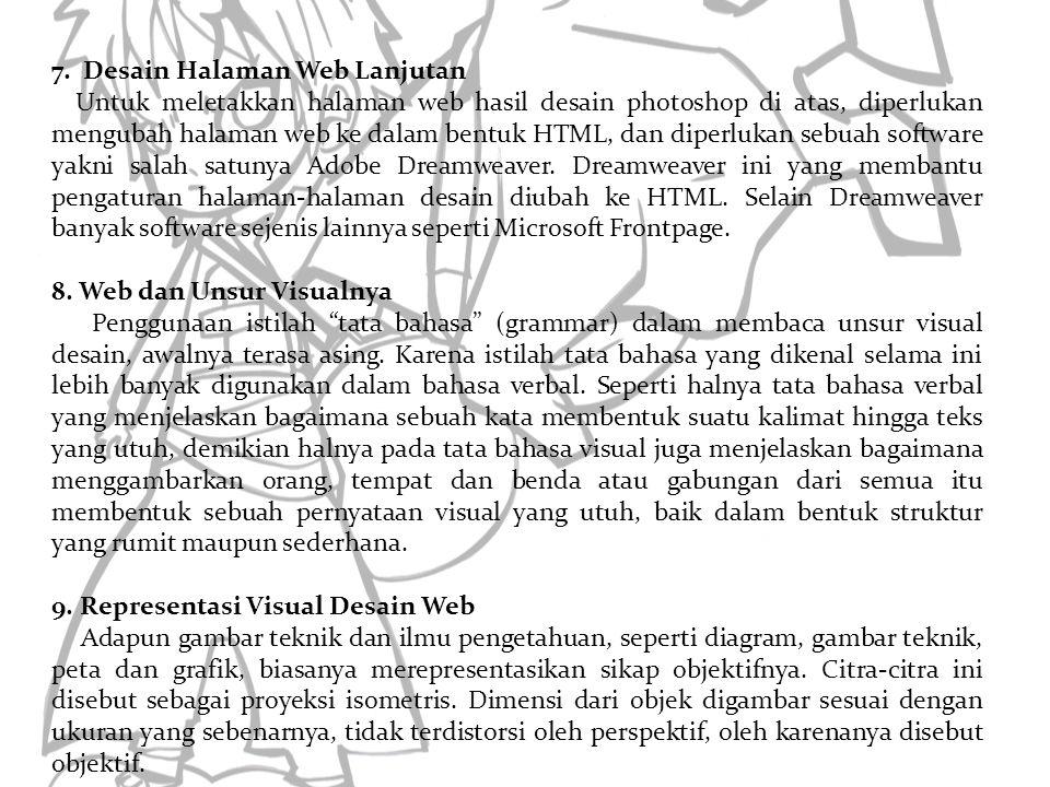 7. Desain Halaman Web Lanjutan