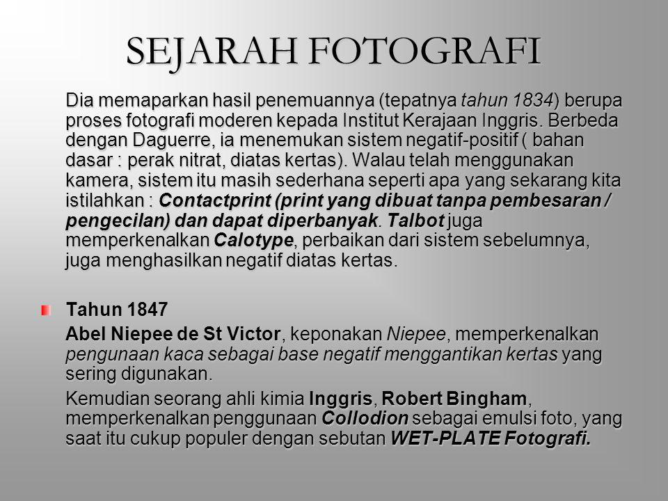 SEJARAH FOTOGRAFI