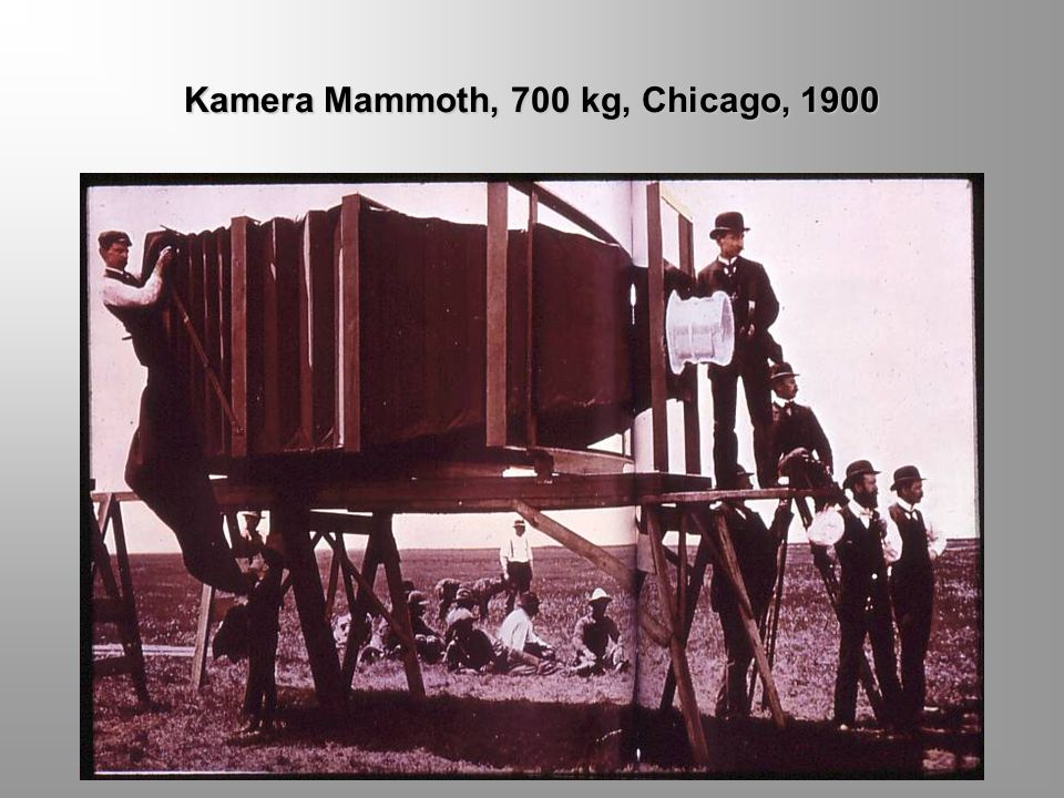 Kamera Mammoth, 700 kg, Chicago, 1900