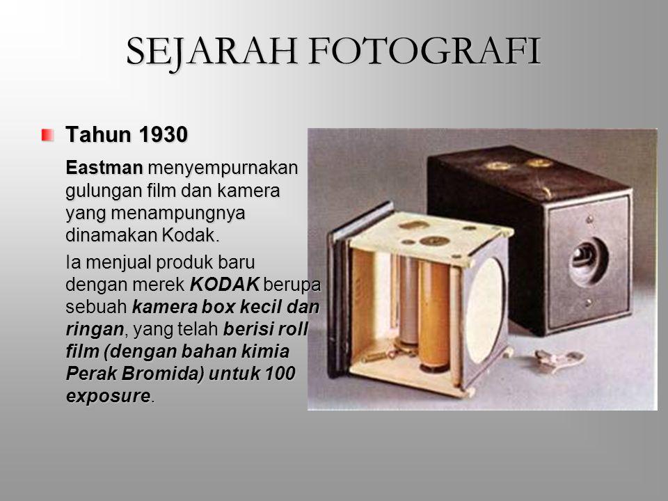 SEJARAH FOTOGRAFI Tahun 1930