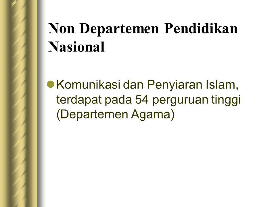 Non Departemen Pendidikan Nasional