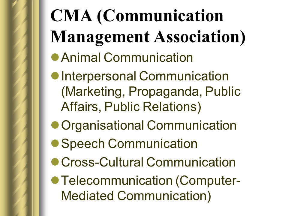 CMA (Communication Management Association)