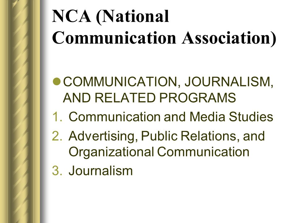 NCA (National Communication Association)