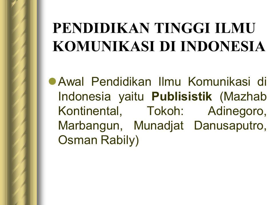 PENDIDIKAN TINGGI ILMU KOMUNIKASI DI INDONESIA