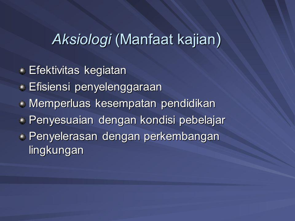Aksiologi (Manfaat kajian)