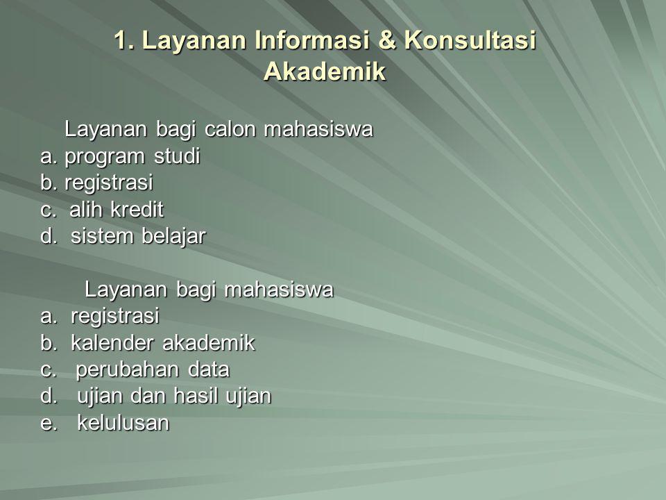 1. Layanan Informasi & Konsultasi Akademik