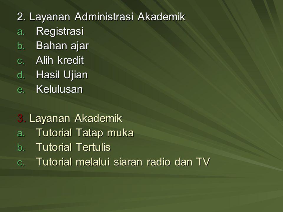 2. Layanan Administrasi Akademik