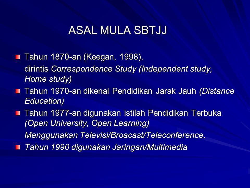 ASAL MULA SBTJJ Tahun 1870-an (Keegan, 1998).