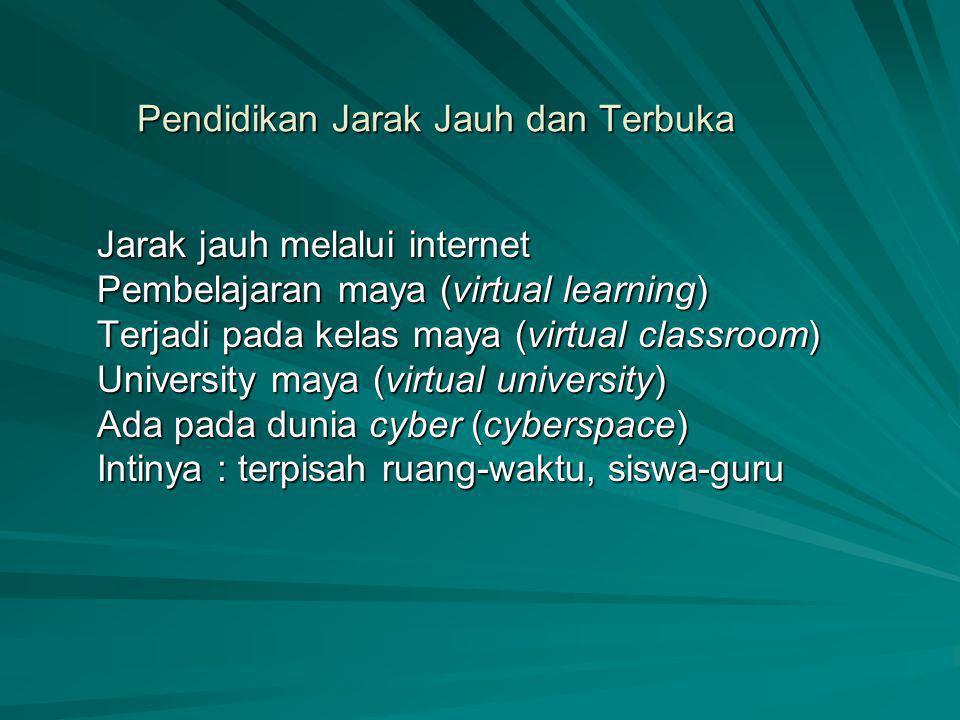 Pendidikan Jarak Jauh dan Terbuka