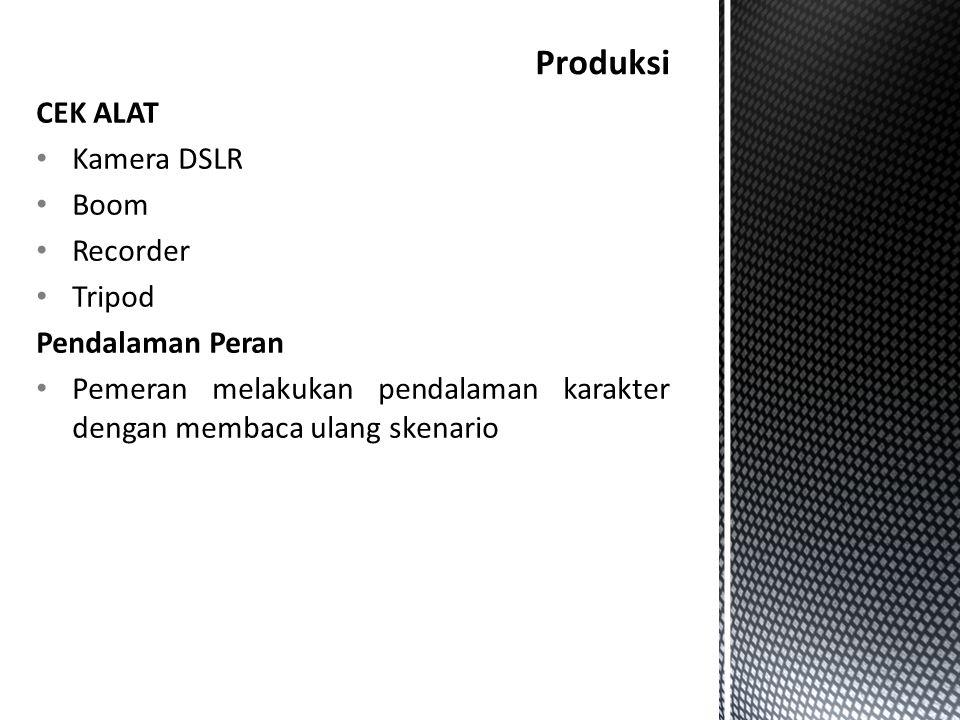 Produksi CEK ALAT Kamera DSLR Boom Recorder Tripod Pendalaman Peran
