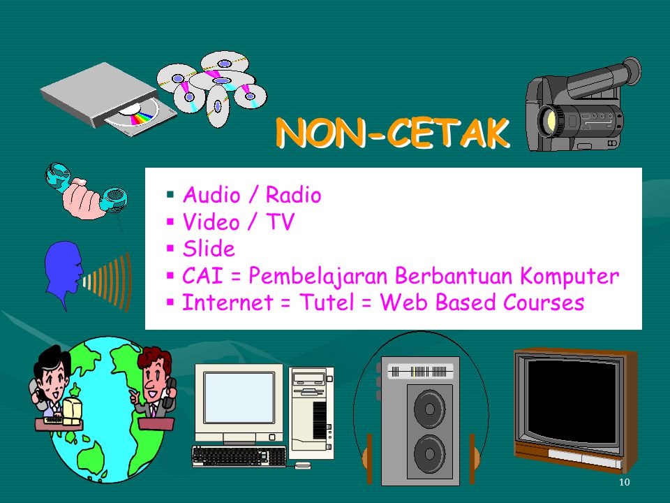 NON-CETAK Audio / Radio Video / TV Slide
