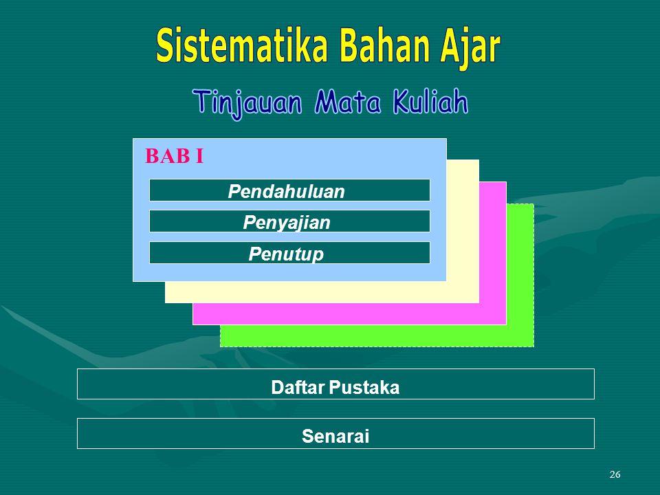 Sistematika Bahan Ajar