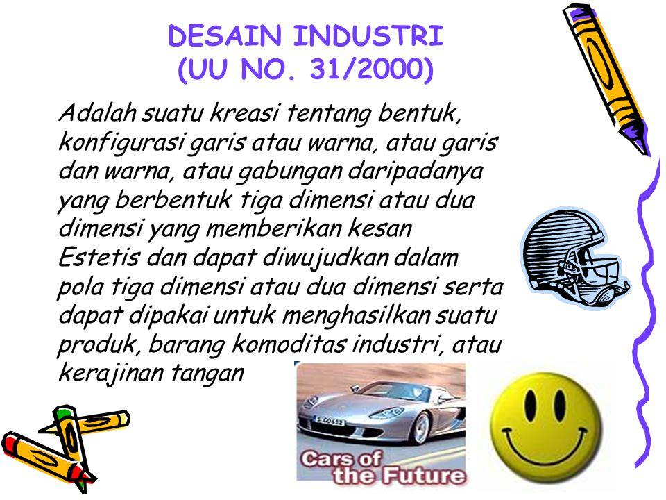 DESAIN INDUSTRI (UU NO. 31/2000)