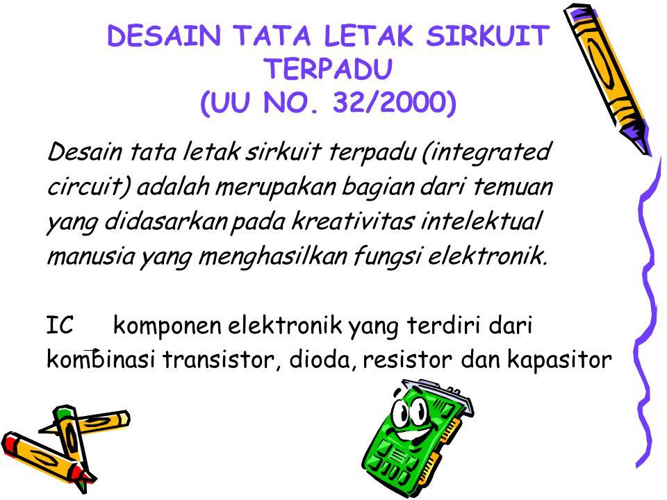 DESAIN TATA LETAK SIRKUIT TERPADU (UU NO. 32/2000)