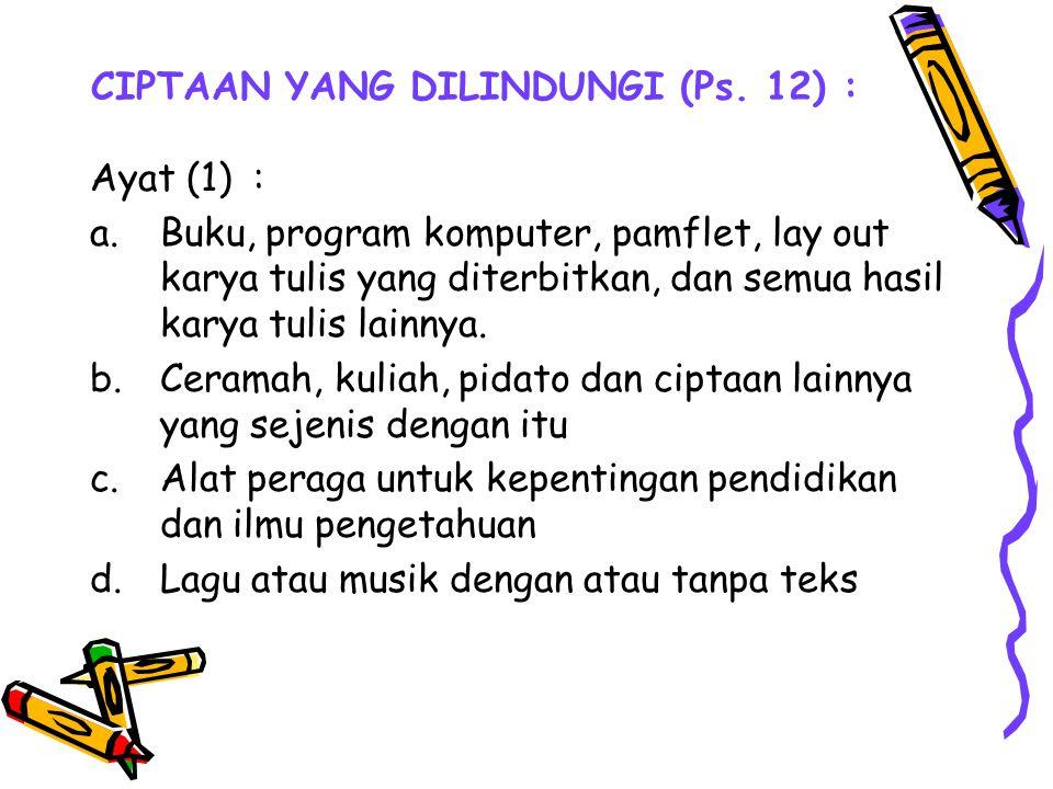 CIPTAAN YANG DILINDUNGI (Ps. 12) :
