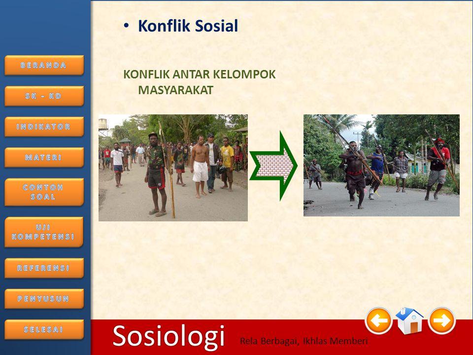 Konflik Sosial KONFLIK ANTAR KELOMPOK MASYARAKAT