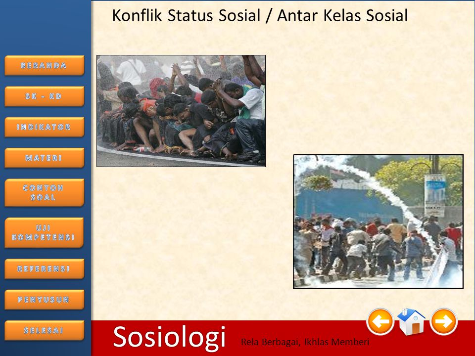 Konflik Status Sosial / Antar Kelas Sosial