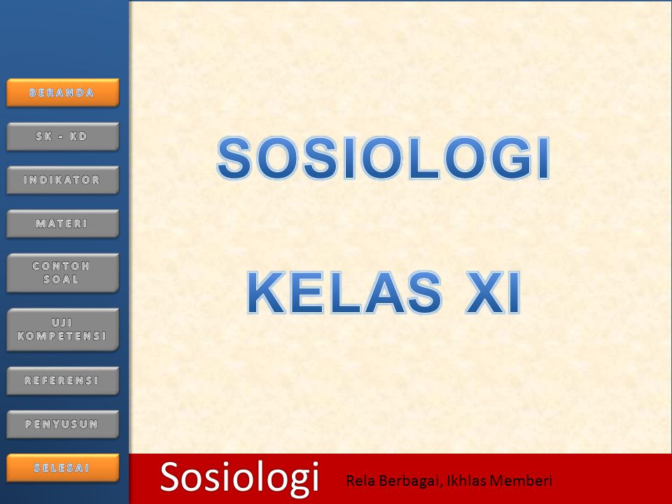 SOSIOLOGI KELAS XI