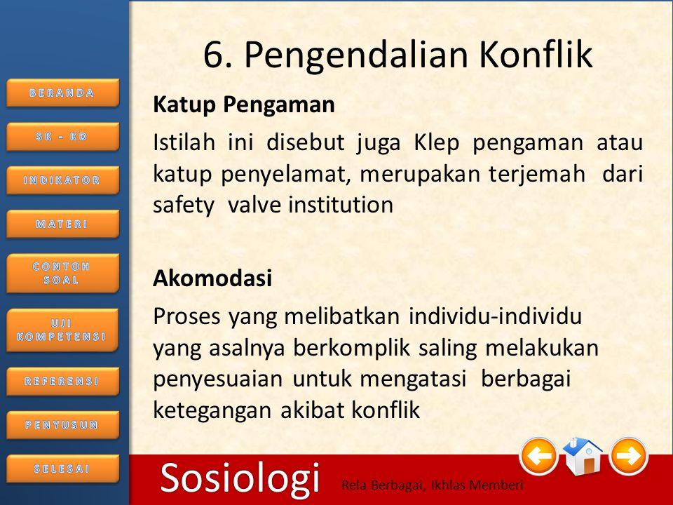6. Pengendalian Konflik