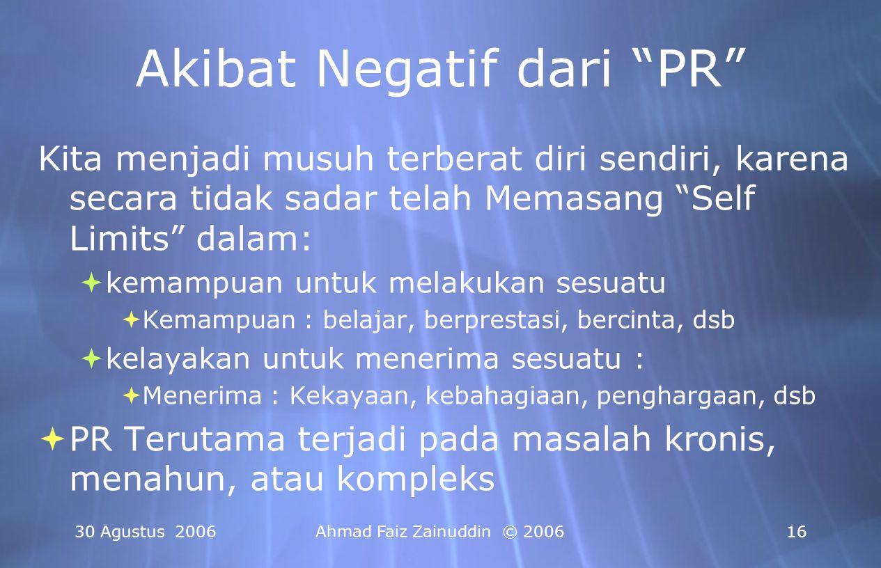Akibat Negatif dari PR