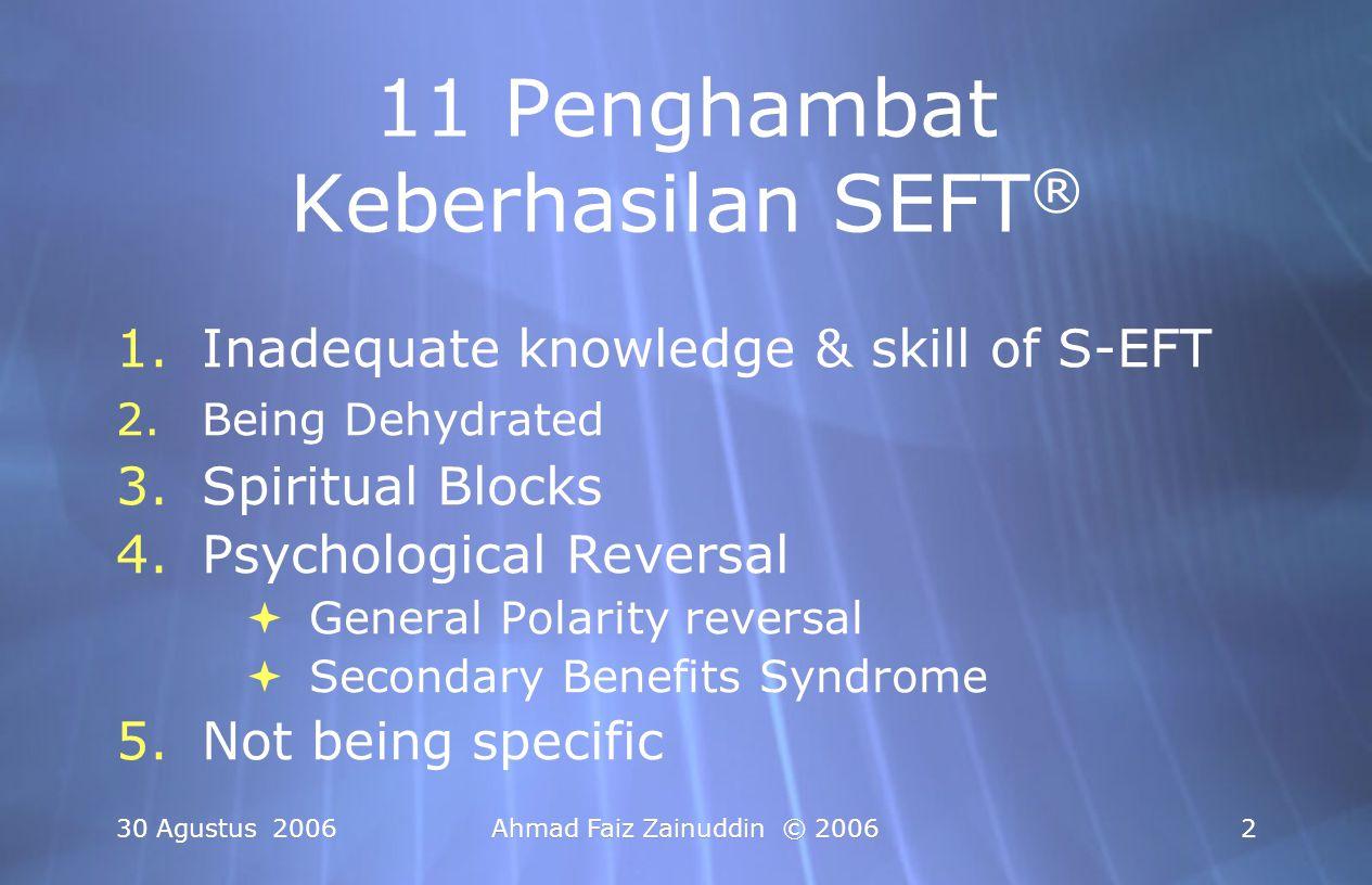 11 Penghambat Keberhasilan SEFT®