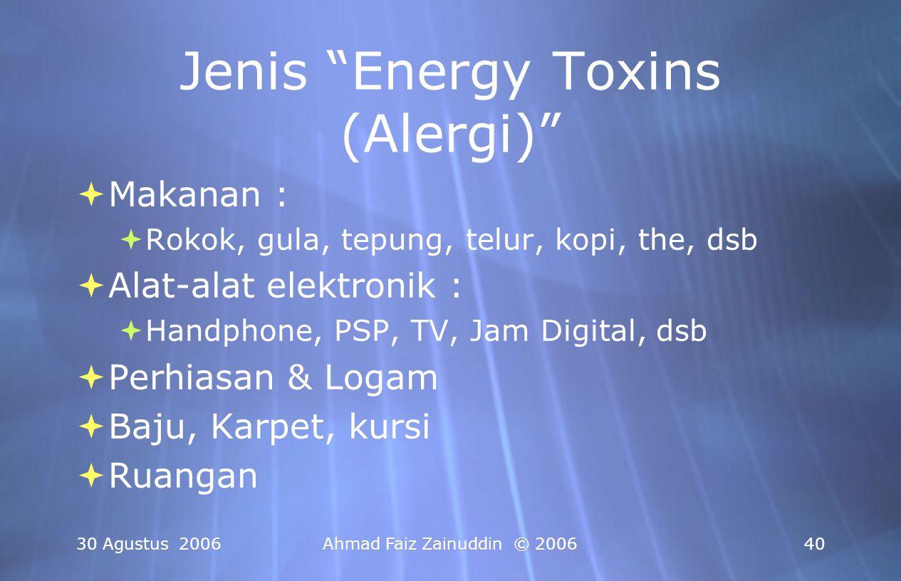 Jenis Energy Toxins (Alergi)