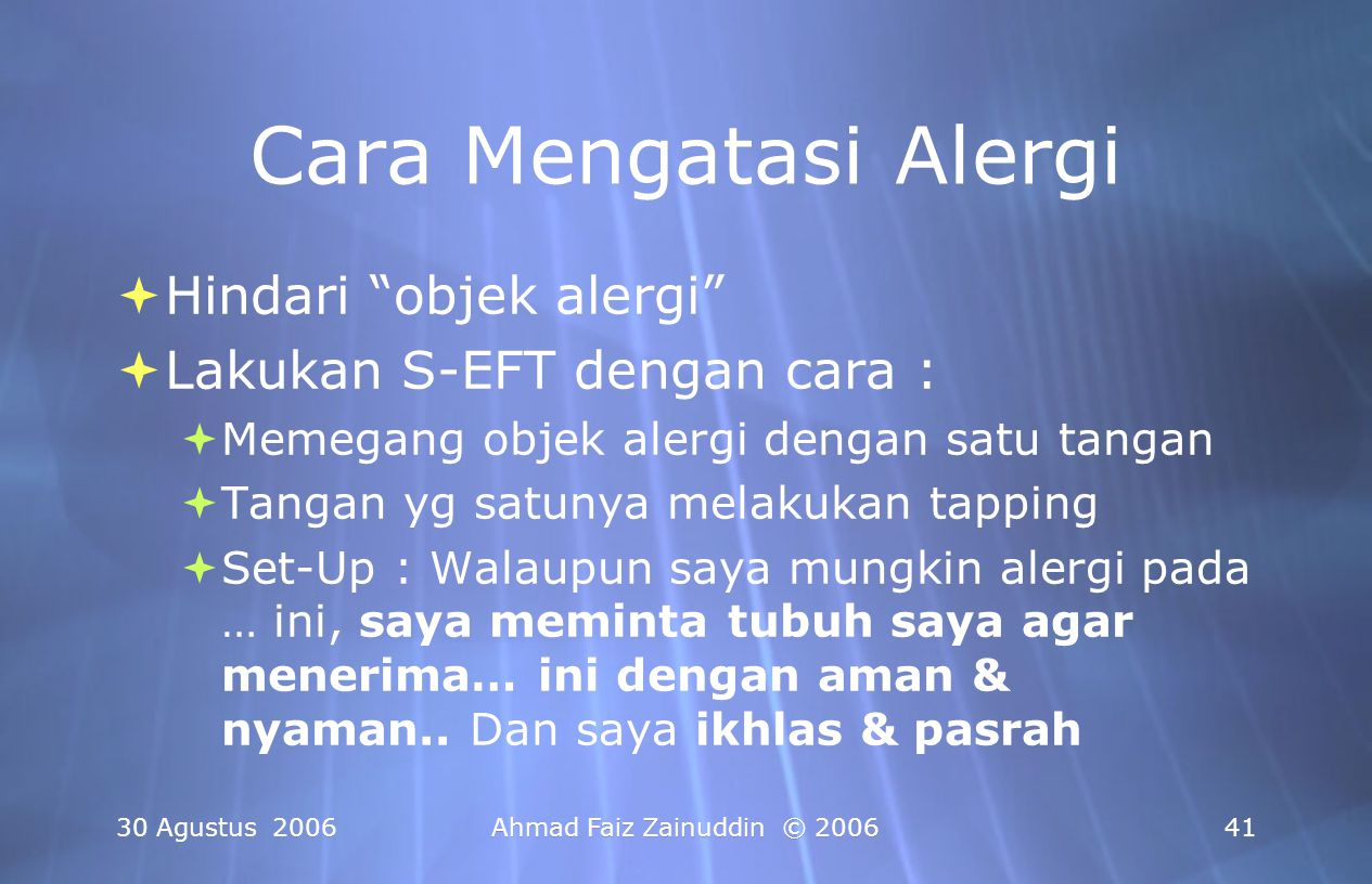 Cara Mengatasi Alergi Hindari objek alergi