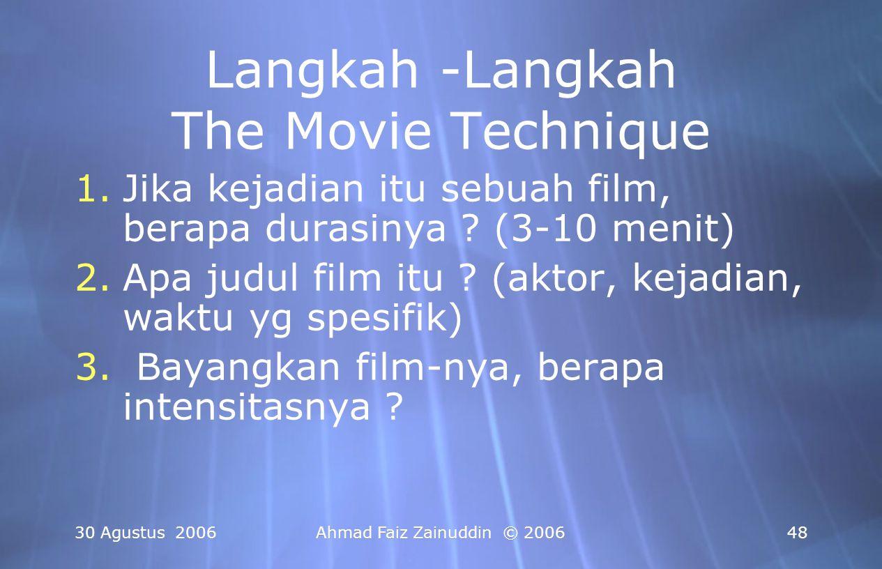Langkah -Langkah The Movie Technique