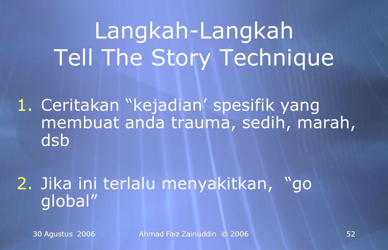 Langkah-Langkah Tell The Story Technique