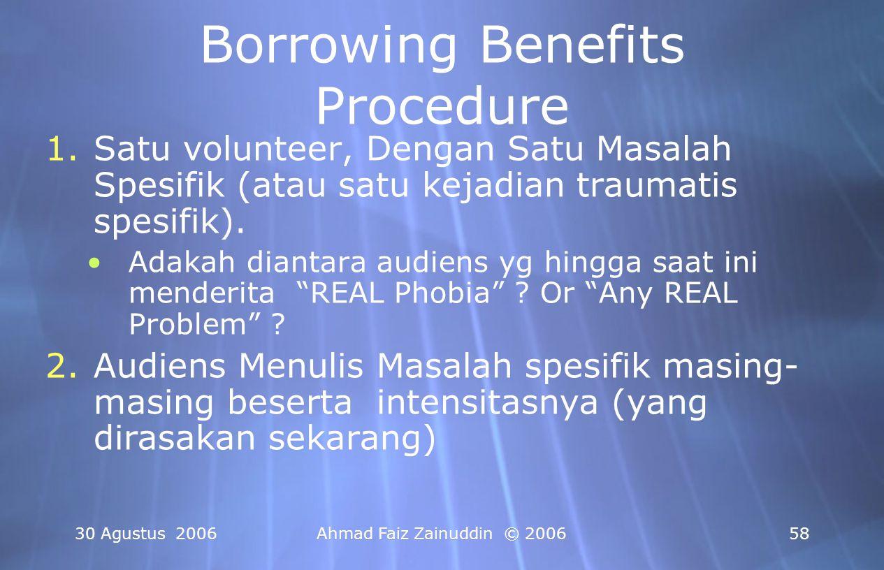 Borrowing Benefits Procedure