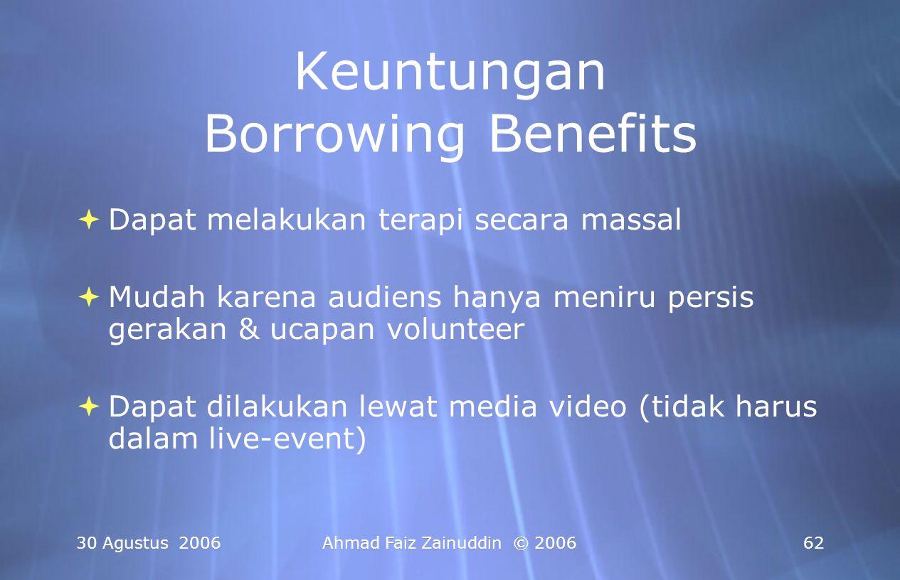 Keuntungan Borrowing Benefits