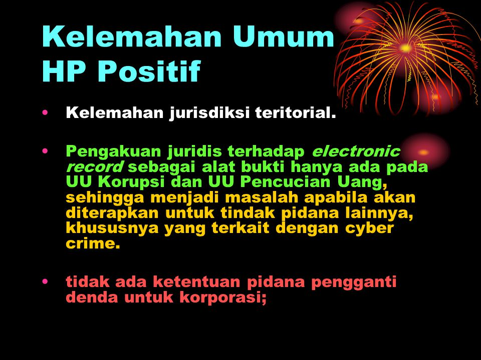 Kelemahan Umum HP Positif