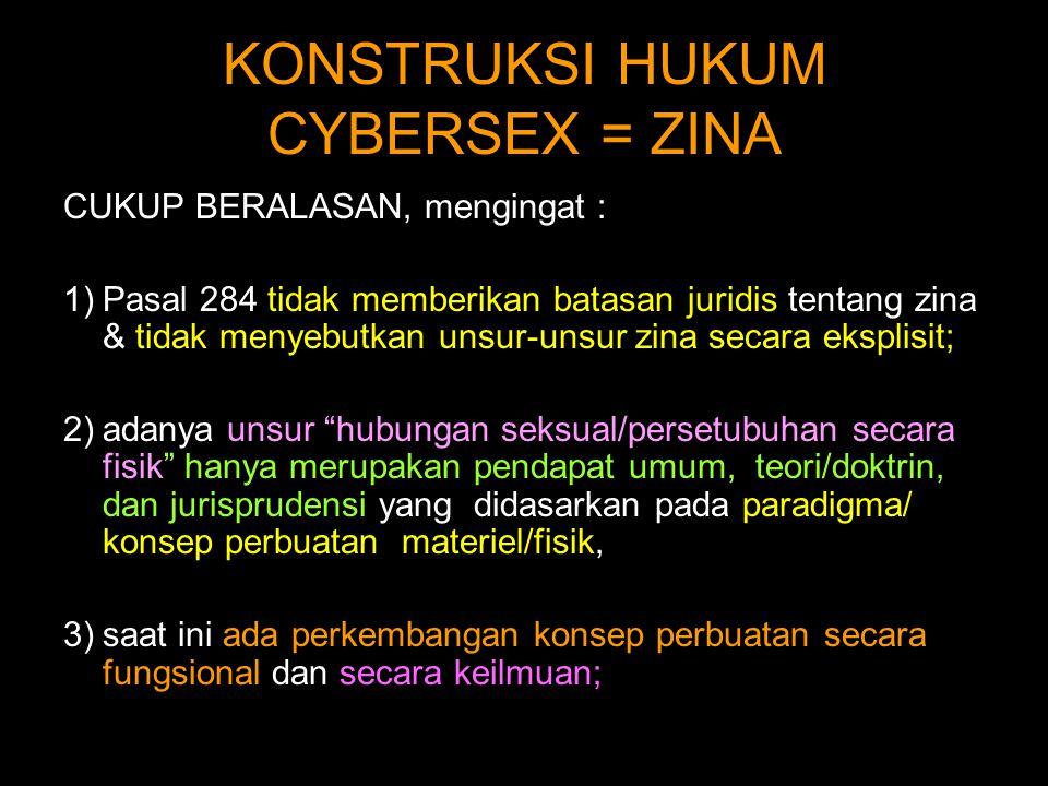 KONSTRUKSI HUKUM CYBERSEX = ZINA