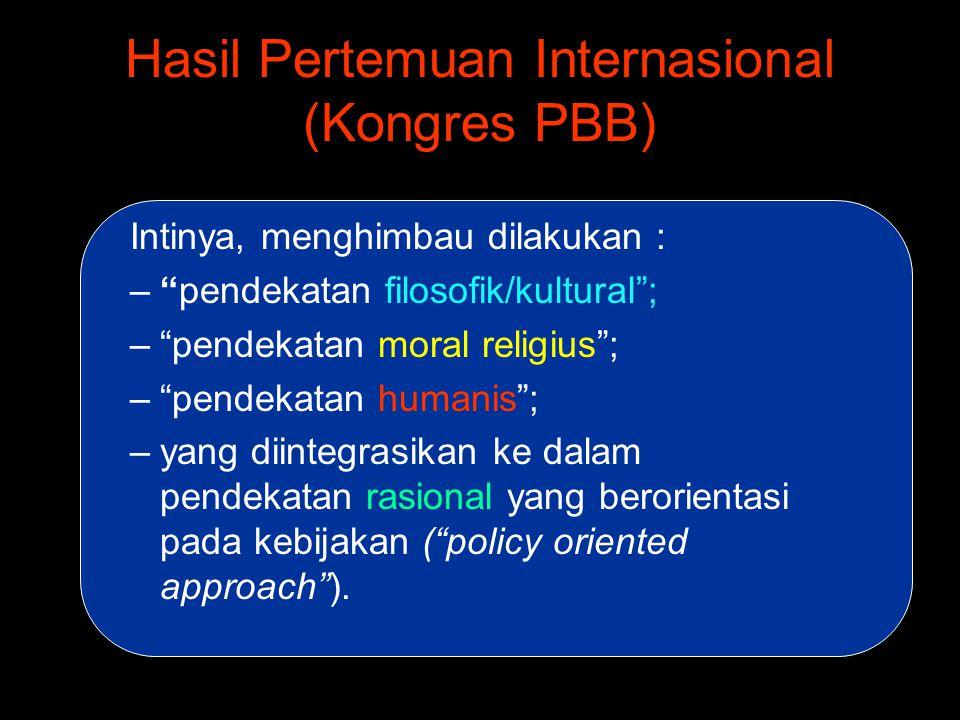 Hasil Pertemuan Internasional (Kongres PBB)