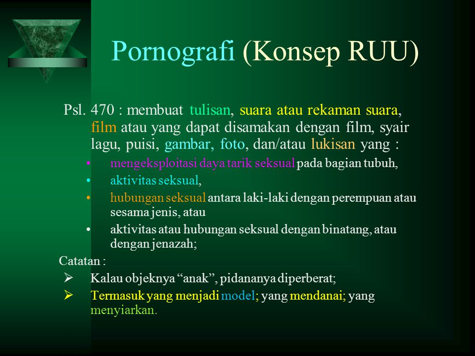 Pornografi (Konsep RUU)