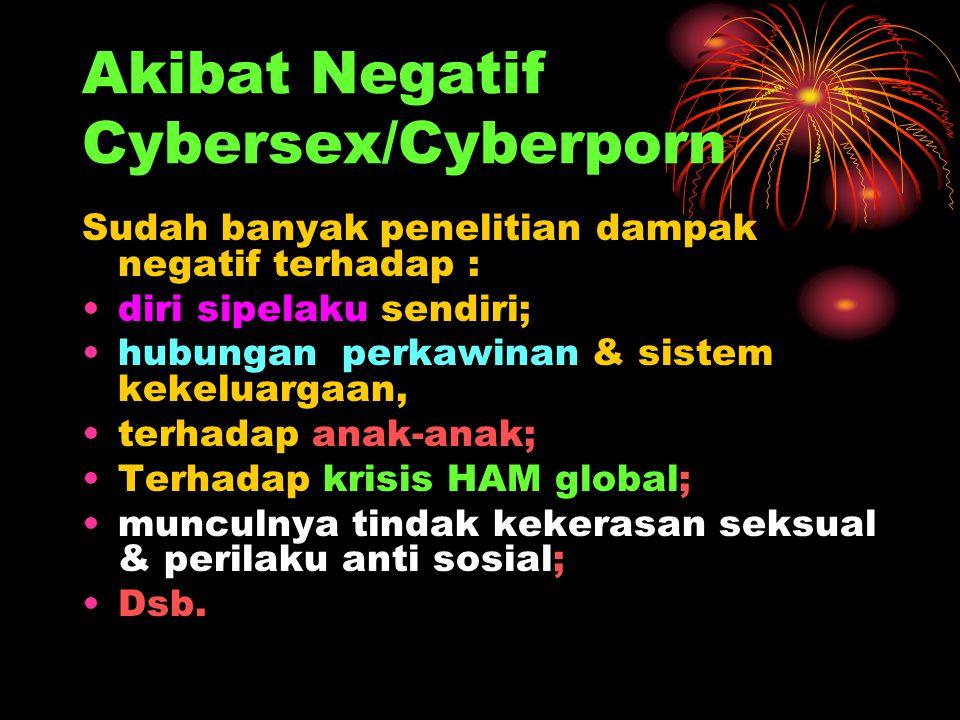 Akibat Negatif Cybersex/Cyberporn