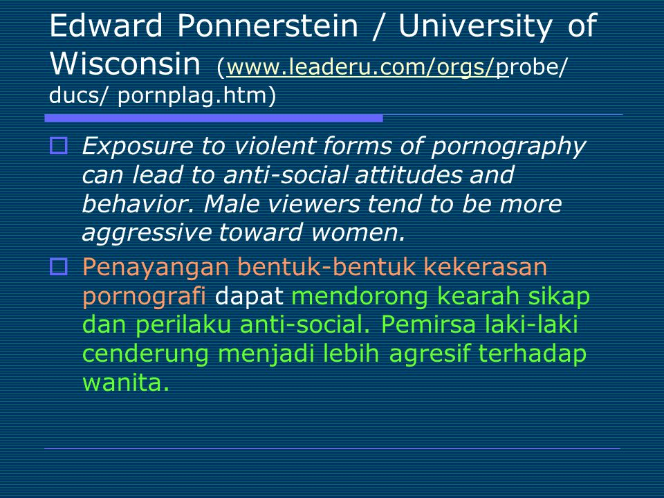 Edward Ponnerstein / University of Wisconsin (www. leaderu