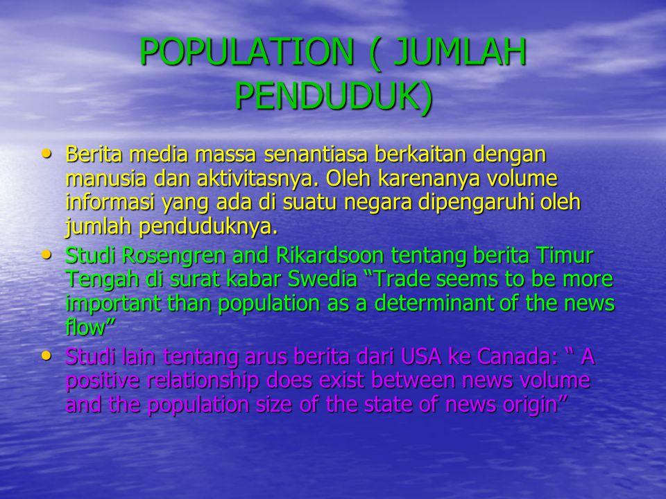 POPULATION ( JUMLAH PENDUDUK)