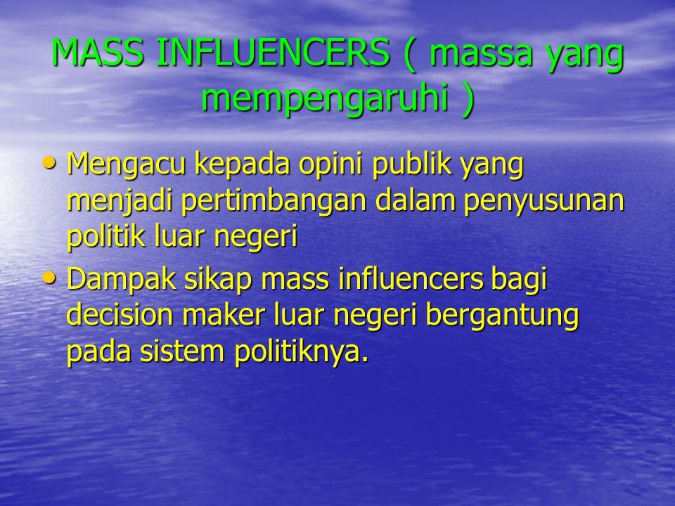 MASS INFLUENCERS ( massa yang mempengaruhi )