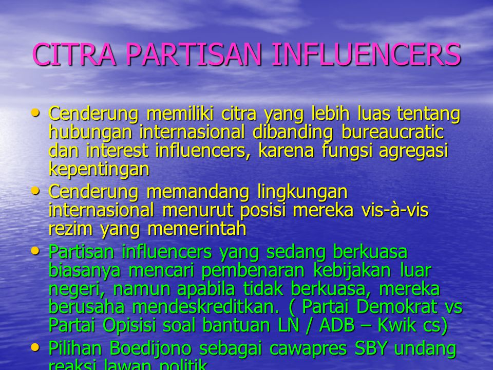 CITRA PARTISAN INFLUENCERS