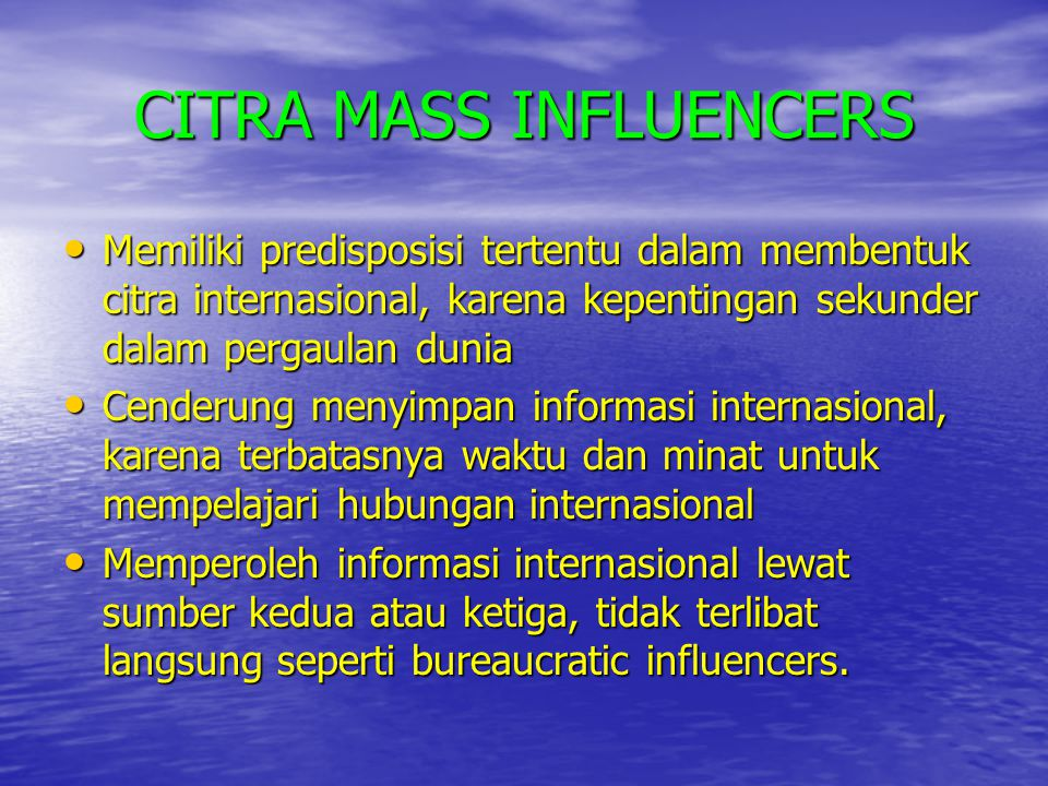 CITRA MASS INFLUENCERS