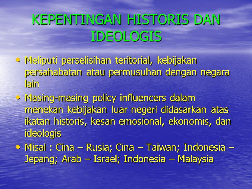 KEPENTINGAN HISTORIS DAN IDEOLOGIS