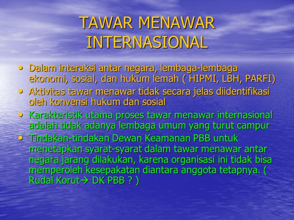 TAWAR MENAWAR INTERNASIONAL