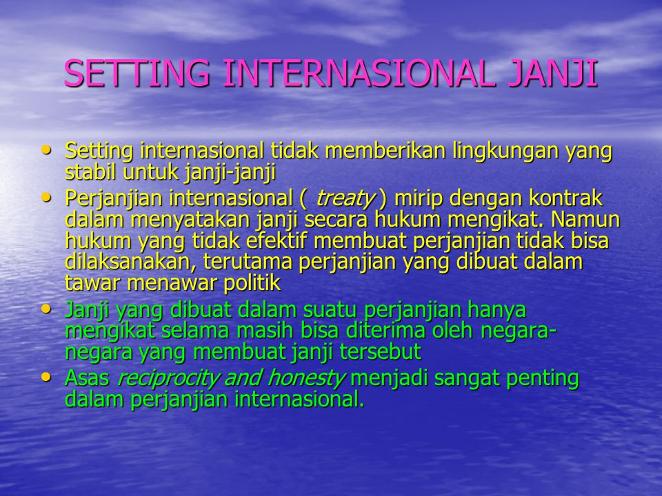 SETTING INTERNASIONAL JANJI