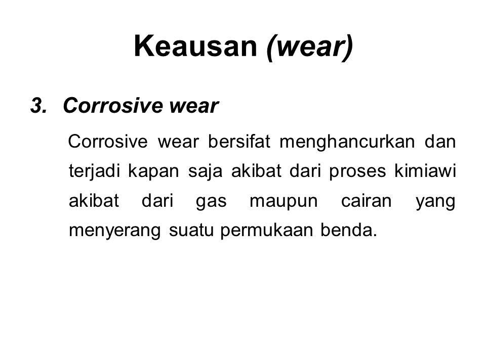 Keausan (wear) Corrosive wear