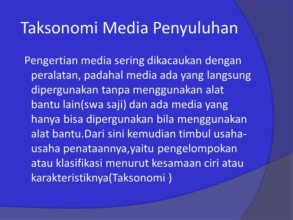 Taksonomi Media Penyuluhan
