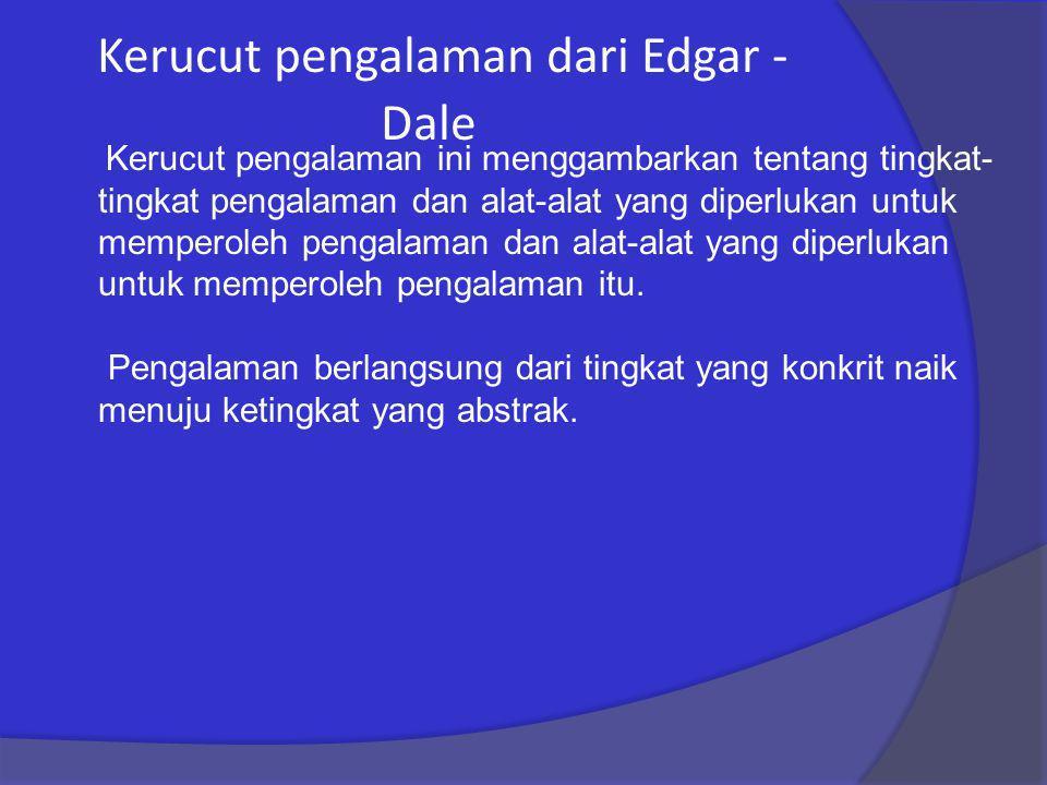 Kerucut pengalaman dari Edgar - Dale