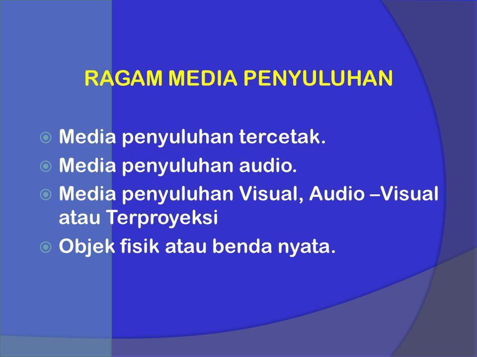 RAGAM MEDIA PENYULUHAN