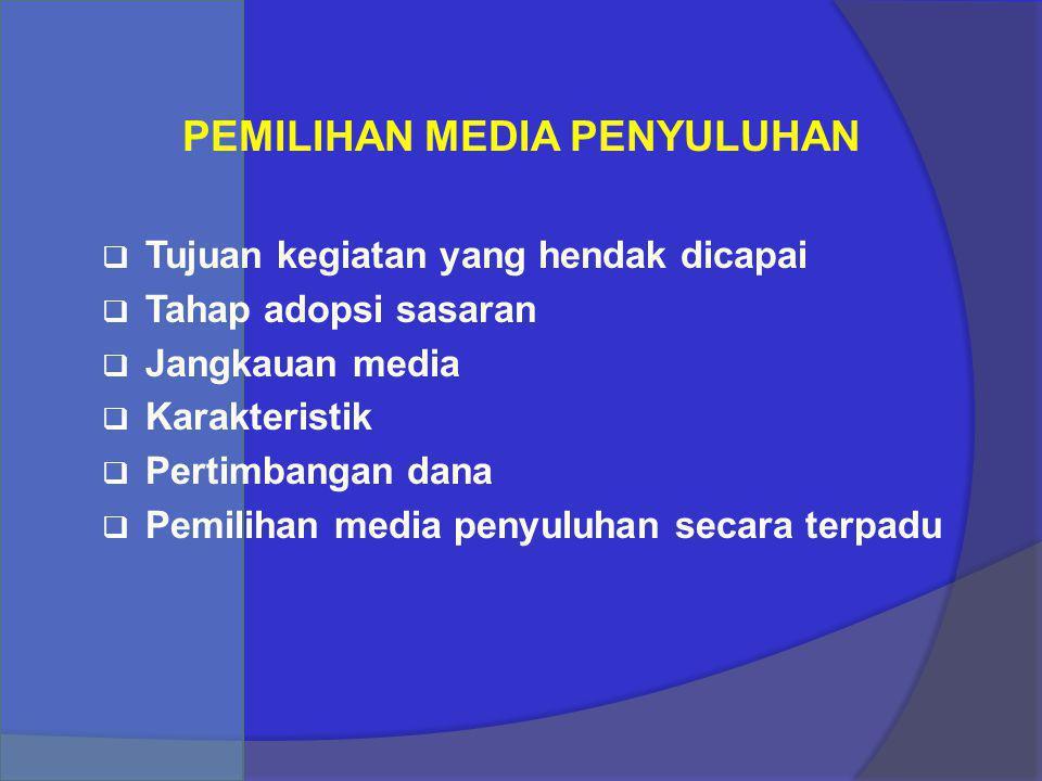 PEMILIHAN MEDIA PENYULUHAN