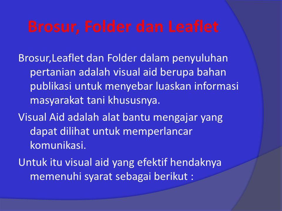 Brosur, Folder dan Leaflet